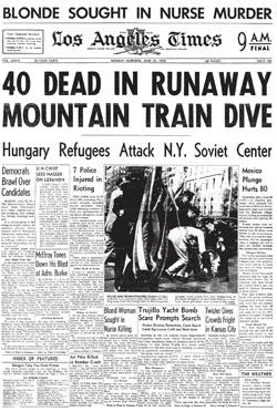 Couverture du Los Anegeles Times du 23 janvier 1958, annonçant le meurtre de la mère d'Ellroy.