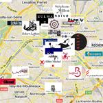 La carte interactive des éditeurs littérature et BD
